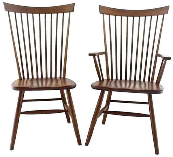 Amish Buckeye Straight Back Dining Chair