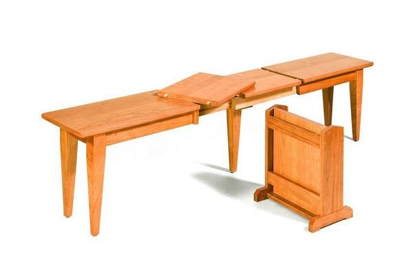 Amish Shelby Shaker Extend-A-Bench