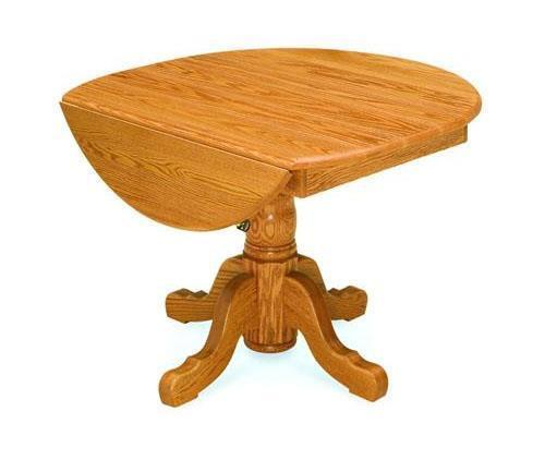 Amish Pedestal Drop Leaf Table