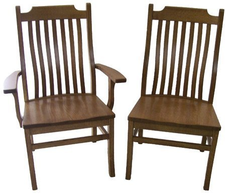 Amish Big and Tall Mission Dining Chair