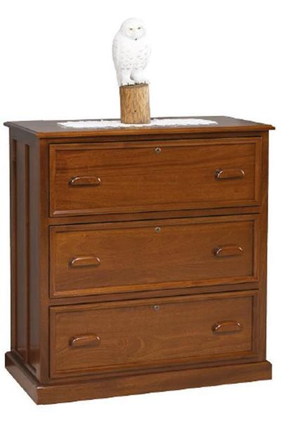 Amish 3 Drawer Contemporary Lateral File Cabinet