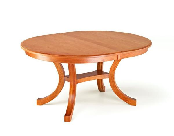 Amish Carlisle Oval Shaker Pedestal Table