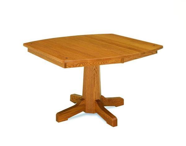 Amish Pinnacle Royal Mission Single Pedestal Table
