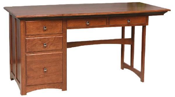 Amish Single Pedestal Mission Computer Desk