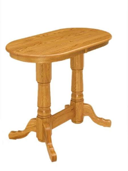 Amish Double Pedestal Pub Table
