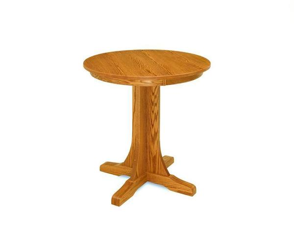 Amish Single Pedestal Mission Pub Table