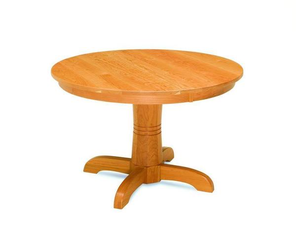 Amish Regal Shaker Single Pedestal Table