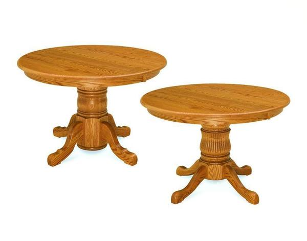 Amish Single Pedestal Table