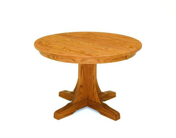 Amish Single Pedestal Mission Table