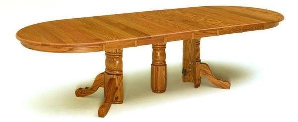 Amish Split Pedestal Dining Table