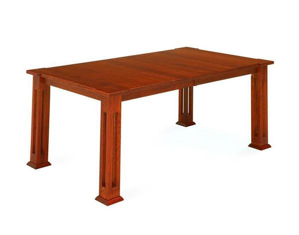 Amish Parker Mission Leg Dining Table
