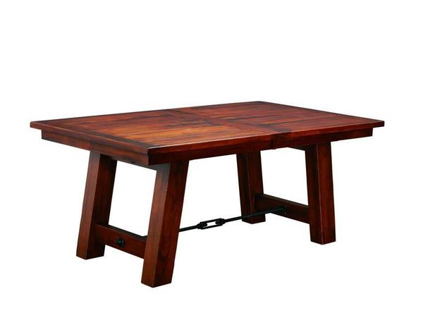 Indiana Ouray Double Trestle Plank Table