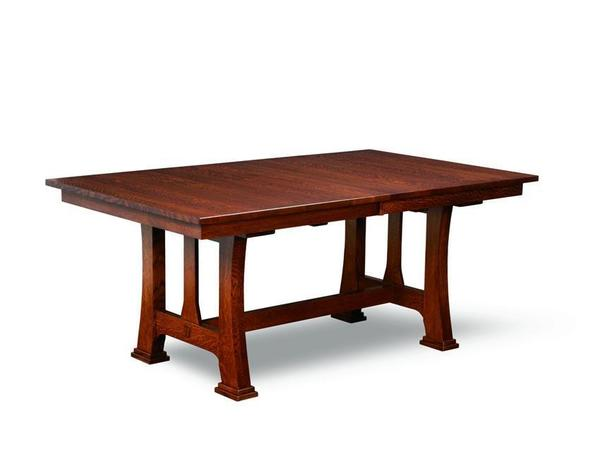 Amish Custer Mission Trestle Dining Table