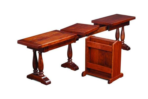 Matina Amish Dining Extending Bench with Planked Top