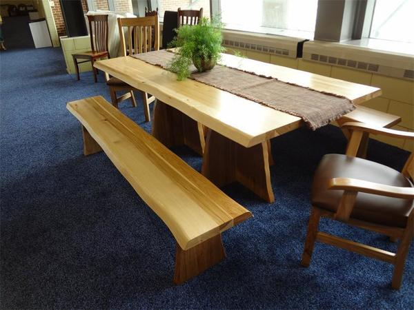 Amish Rustic Country Slab Table