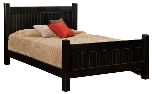 Amish Pine Wood Shaker Bed