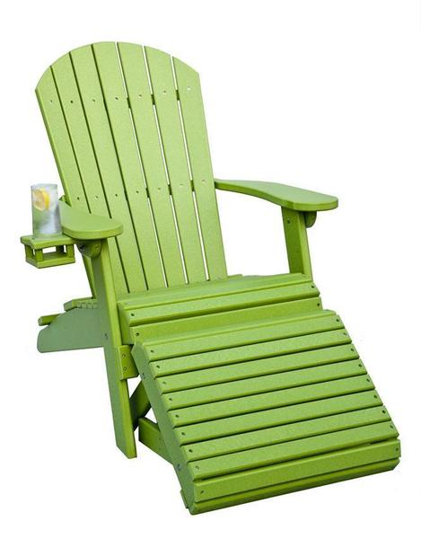 Amish Poly Adirondack Chair with Optional Folding Ottoman