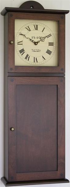 Amish Shaker Wall Clock with Storage