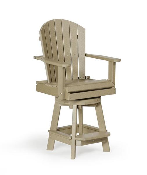 Amish Balcony Poly Swivel Bar Chair