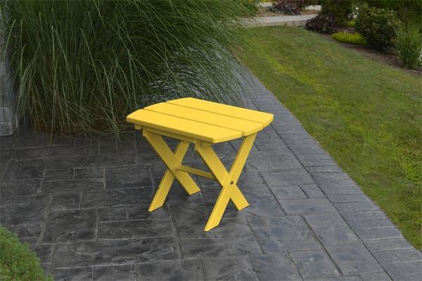 Amish Poly Folding Oval-Shaped End Table