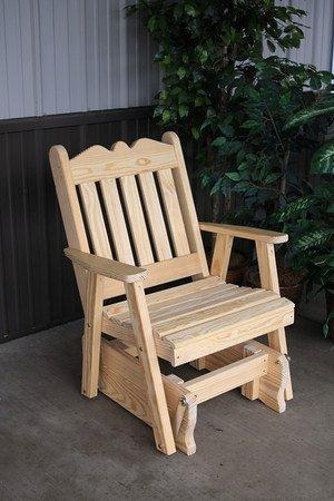 Amish Pine Wood Royal English Glider Chair