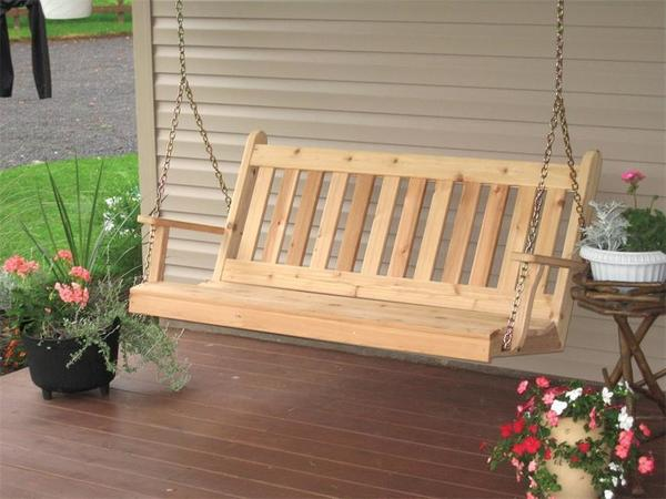 Amish Cedar Wood Traditional English Swing