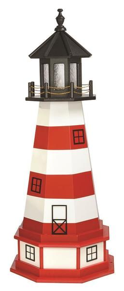 Amish Assateague Hybrid Garden Lighthouse with Base