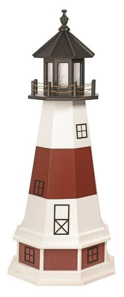 Amish Montauk NY Hybrid Garden Lighthouse with Base