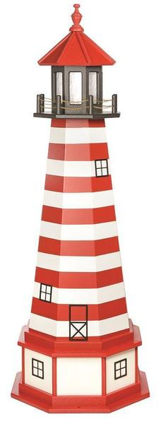 Amish West Quoddy Hybrid Yard Lighthouse with Base