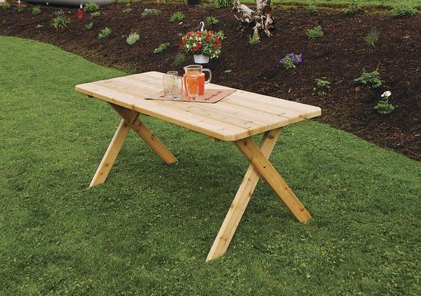 Amish Cedar Wood Crossleg Table
