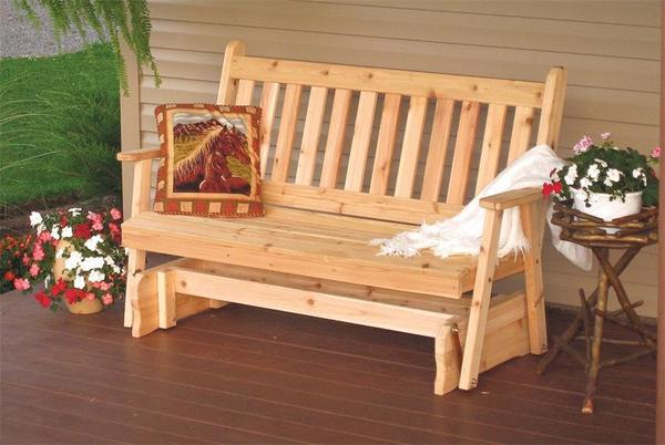 Amish Cedar Wood Traditional English Glider