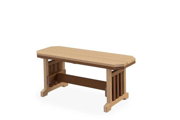 Finch Extra Wide Poly Backless Mission Bench