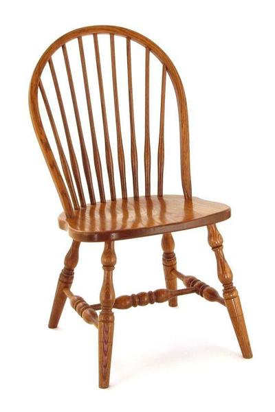 Amish Colonial 9 Spindle Windsor Dining Chair