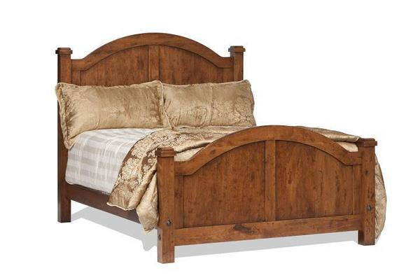 Amish Heavy Distressed Canyon Creek Arch Panel Bed