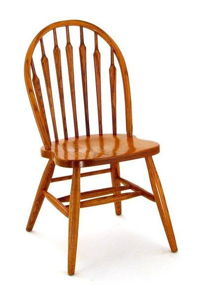 Amish Carolina Oak Wood Windsor Chair