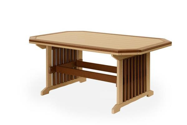 Finch Poly Mission Dining Table with Border