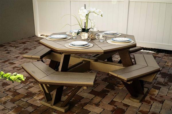 Finch Poly Octagon Table