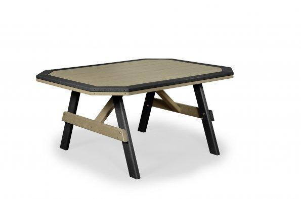 Finch Poly Garden Table with Border