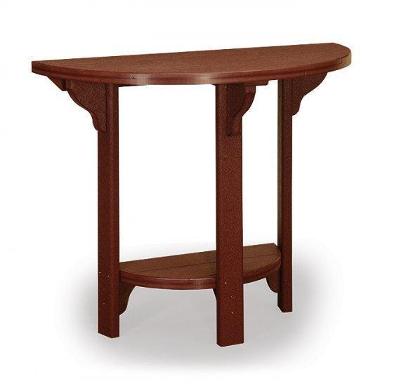 """Finch Poly  46"""" Half Round Bar Table"""
