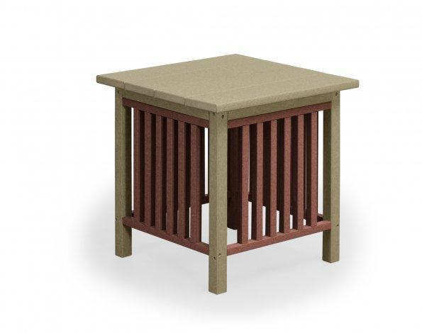 End Tables Amish Car D House Drawing - Mission style round end table