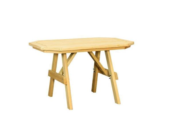 Amish Yellow Pine Wood Border Table