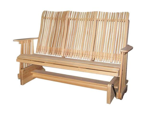 Amish Handcrafted Cypress Outdoor 5' Highback Glider