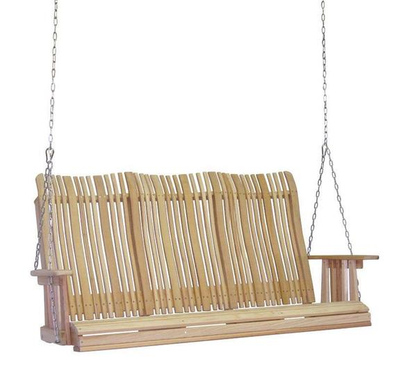 Amish Cypress 5' Highback Porch Swing with Chain