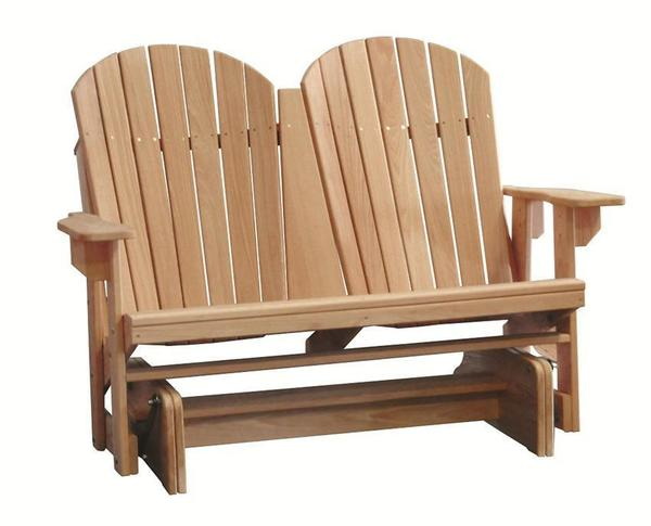 Amish Cypress Outdoor Adirondack Double Glider