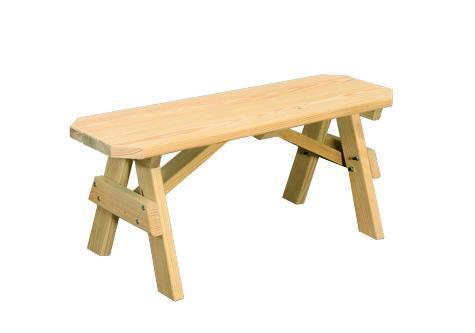 Amish Yellow Pine Wood Extra Wide Bench