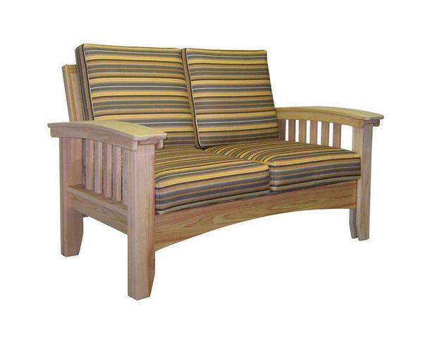Amish Unfinished Cypress Patio Mission Loveseat