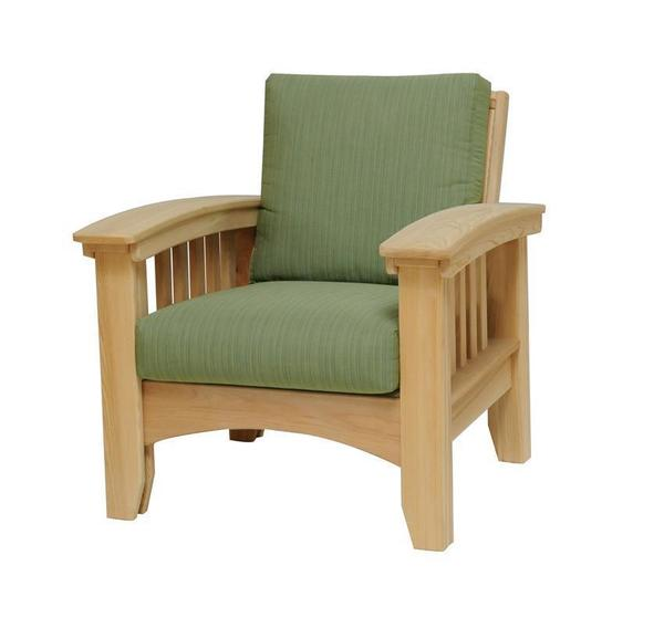 Amish Cypress Mission Patio Lounge Chair with Cushions