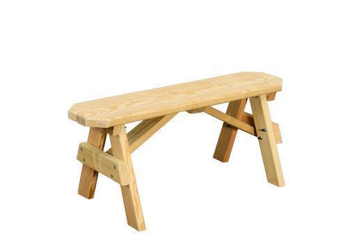 Merveilleux Amish Yellow Pine Wood Bench