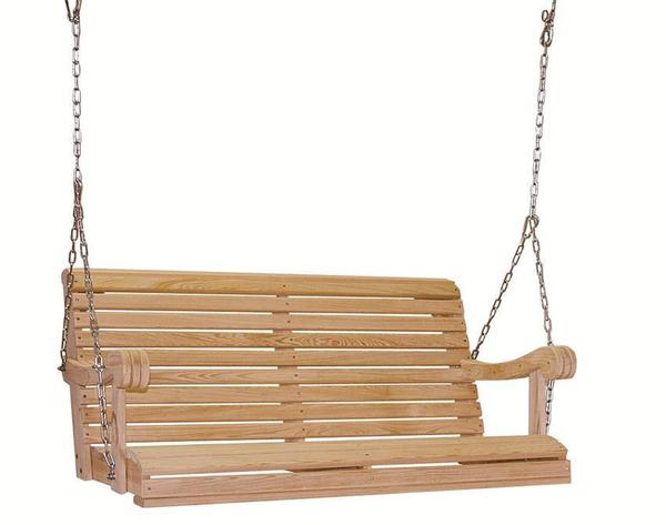 Amish Made Cypress 4' Grandpa Porch Swing with Chain