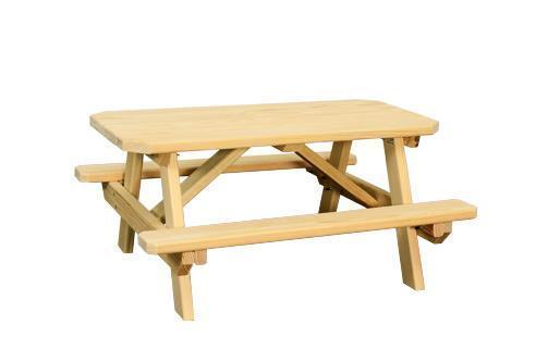 Amish Pine Wood Child's Picnic Table